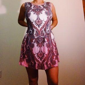 Pink printed Cotton dress